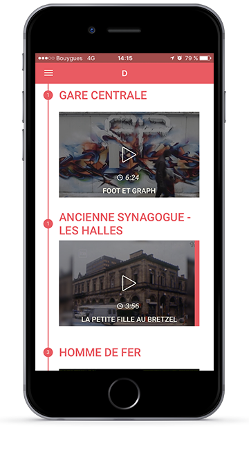 Lignes de ville application mobile